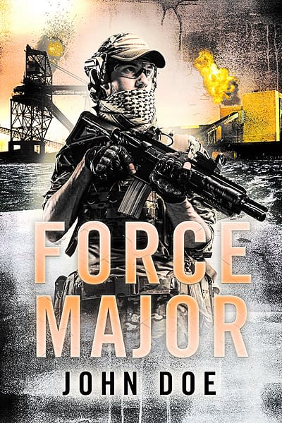 military thriller book cover